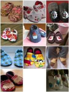 baby shoe mosaic